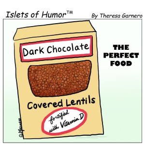 dark chocolate covered lentils