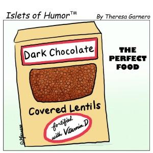 dark chocolate covered lentils